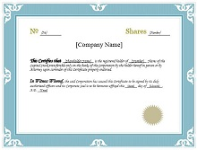 downloadable stock certificates