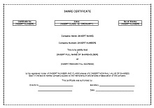 share certificate template free download
