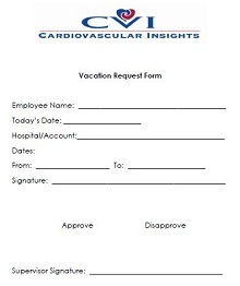 vacation request form pdf