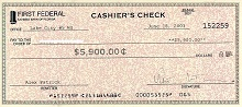 sample blank check