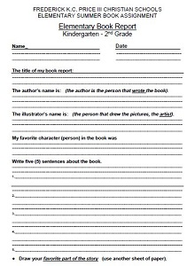 simple book report template