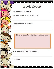 reading report template