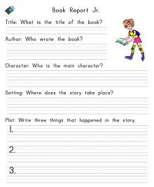 elementary school book report template