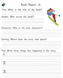 high school book report template