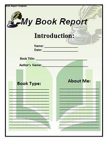 book report template 5th grade