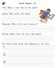 book report layout