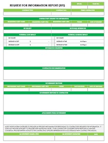 construction rfi form