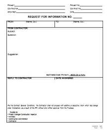 rfi template pdf