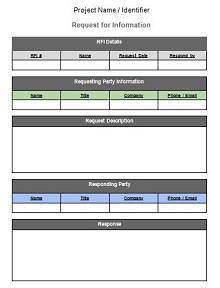 request for information form template