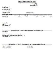 request for information forms template