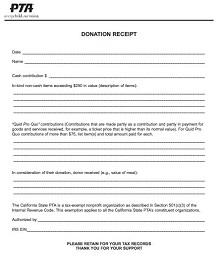 printable donation receipt