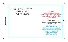 luggage name tag template