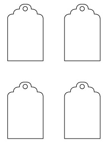 template luggage tag