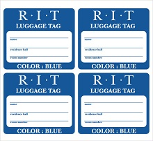 airport luggage tag template