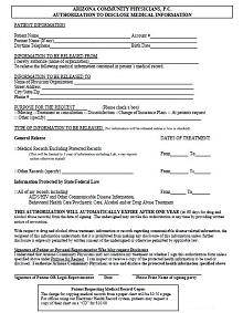 dr release form