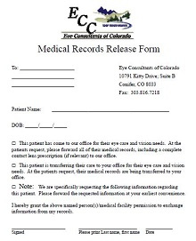 sample medical records release form pdf