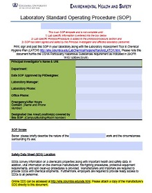 sample sop document