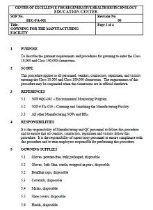 procedure manual templates