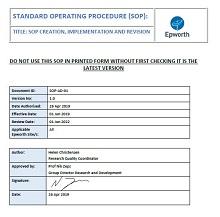standard operating procedures example