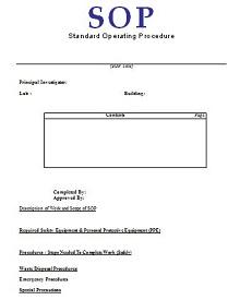 sample standard operating procedure