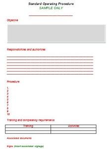 procedure template