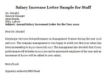 sample letter asking for a raise