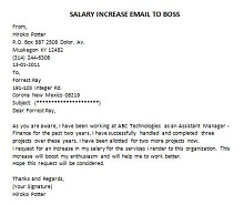 sample letter for salary increase