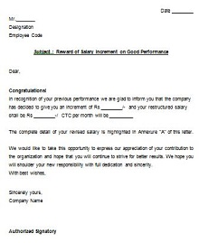 pay increase letter to give employees