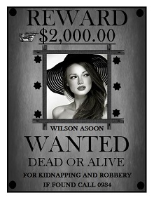 wanted poster modern