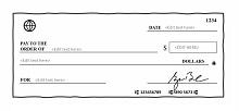 free check printing template