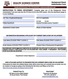 background check permission form