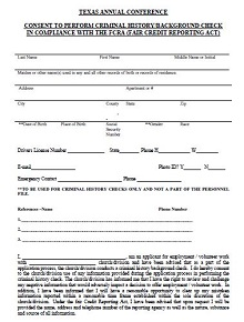 employment background check forms