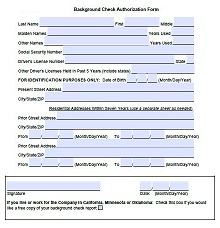 employment background check form