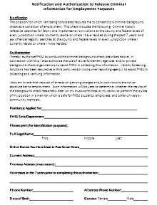 consent form for background check