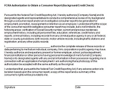 background check authorization form word