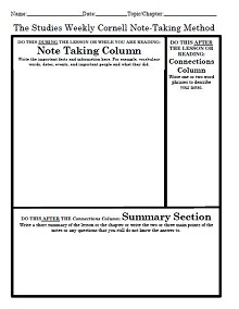 cornell notes template doc