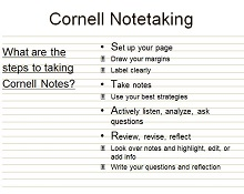 notetaking template