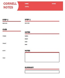 free notes template