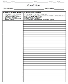 cornell notes microsoft word