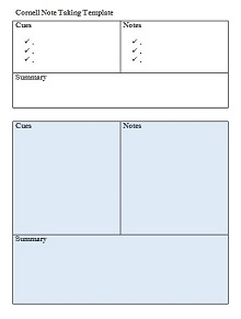 example of cornell notes