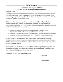 accounting resume cover letter