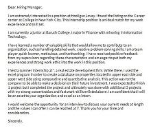 intern letter