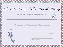 letters from toothfairy