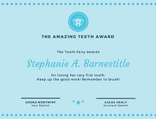 tooth fairy certificate printable girl