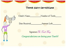 letter from tooth fairy template