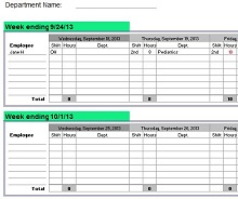 self scheduling for nurses template