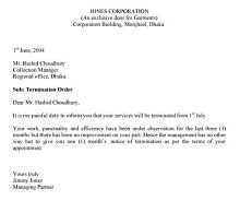 termination letter example