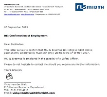 letter of employment