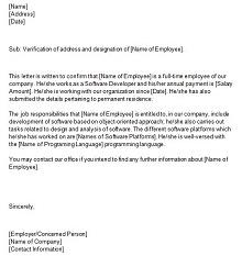 varification letter