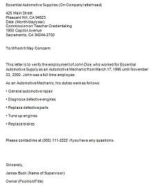employment confirmation letters